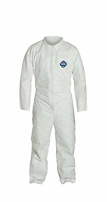 DuPont Tyvek TY120S  Disposable Coverall, Open Cuff, White, 3XL Pack of 6