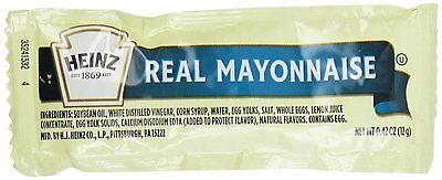 Heinz Mayonnaise, 0.42-Ounce Single Serve Packages Pack of 200