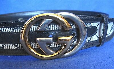 """Vintage Gucci Belt and Buckle Made in Italy 29 -31"""""""