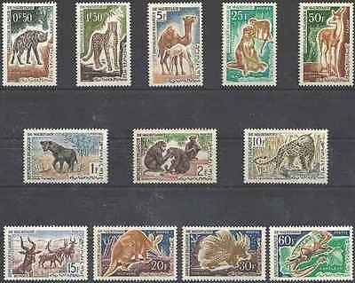 Timbres Animaux Mauritanie 165/76 ** lot 20753