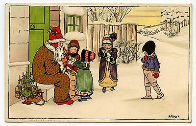 ILLUSTRATEUR PAULI EBNER MUNK série N° 779 Père Noel santa claus enfant child