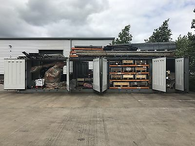 40ft Shipping Container with side access doors (Car Transporter)