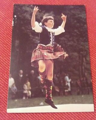 A young Scottish dancer postcard - highland dancer