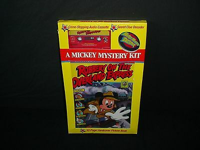 Disney Robbery On The Overland Express Mickey Mystery Kit Audio Book Cassette
