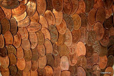 50 Elongated Penny Cent Collection Mostly Different US Lincoln Wheat / Memorial