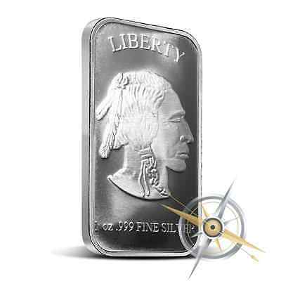 1 oz Silver Bar – INDIAN  BUFFALO (SILVER TOWNE) – 1 oncia argento lingotto