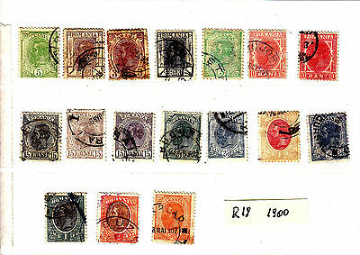 ROMANIA Old Stamps Roumanie 1900  Lot R 18