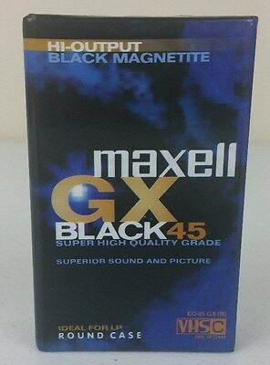Maxell GX Black 45 VHS C EC-45 Camcorder Video Cassette Tape - New & Sealed - A2