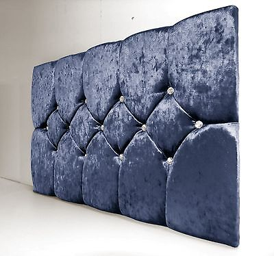 Quality Miami Deluxe Headboard In Luxury Crushed Velvet In Single Double King!
