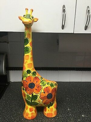 "GIRAFFE Turov ART.  22"" Ceramics Statue Hand Painted signed limited edition 99"