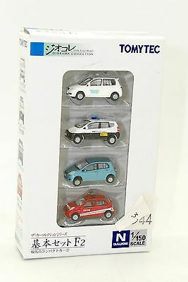 Tomytec N 1/150 Coffret De 4 Voitures - Diorama Collection