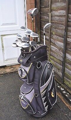 Set of Cleveland TaylorMade Golf Clubs Complete Set Irons Wood Wedges Putter Bag
