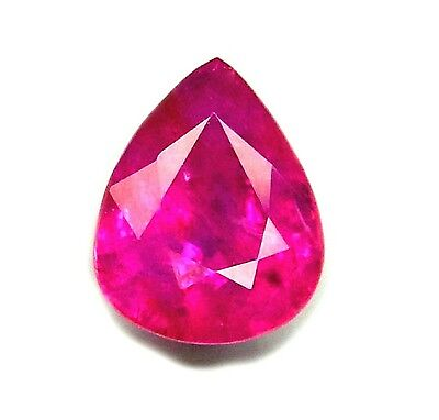 CERTIFIED 3 CT 100% UNHEATED, UNTREATED NATURAL RUBY pear cut from MOZAMBIQUE