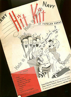 """ARMY NAVY HIT KIT "" 1946 entertainment special services division NOT FOR SALE!"