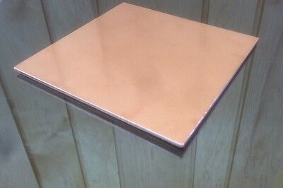 "1/8"" COPPER SHEET PLATE NEW 6""x6"" .125 THICK *CUSTOM 1/8 SIZES AVAILABLE*"