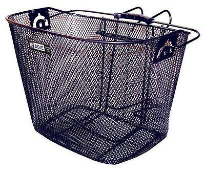 Adie Front Mesh Basket With Metal Handle For Carrying Durable Metal Construction