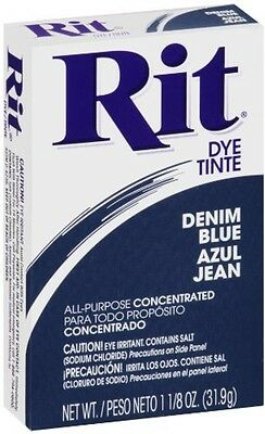 Rit All-Purpose Powder Dye, Denim Blue 1.13 oz