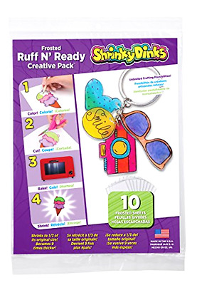 Shrinky Dinks Creative Pack 10 Sheets Frosted Ruff n' Ready  Sheets Sheet