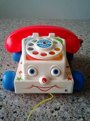 Vintage Fisher Price 1961 Chatter Telephone Pull String Toy 2035 Mexico
