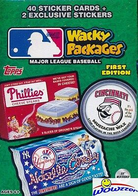 2016 Topps Wacky Packages MLB Baseball EXCLUSIVE 16 Box Factory Sealed CASE !
