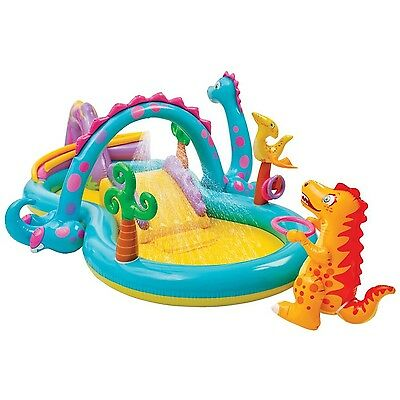Intex Dinosaur Water Play Center Paddling Pool with Moveable Arch Water Spray...