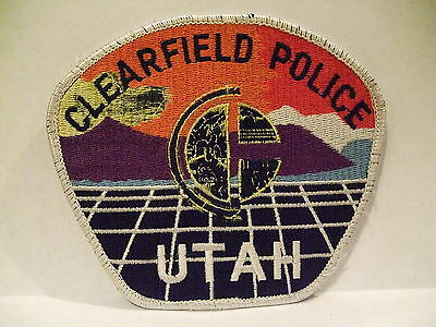 police patch  CLEARFIELD POLICE UTAH