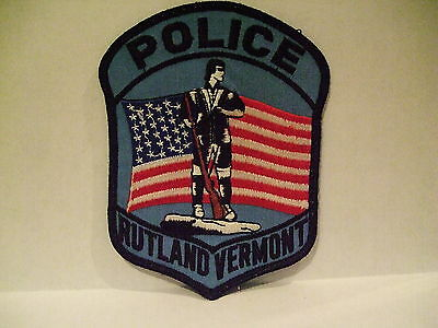 police patch  RUTLAND POLICE VERMONT
