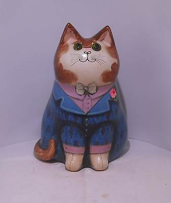 Joan & David De Bethel Pottery Cat 1982 7""