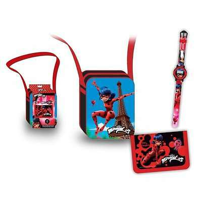 Set Bandolera + Billetera + Reloj Lady Bug (9893)