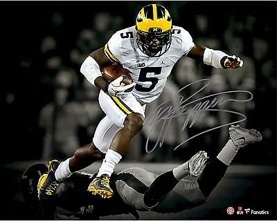 """Jabrill Peppers Michigan Wolverines Autographed 11"""" x 14"""" Spotlight Photograph"""