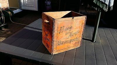 Vintage Davenports Beer at Home Wooden Crate No 65