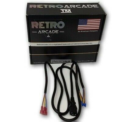 Arcade Game system AC internal Jamma EMI power cable 110V, Jamma + mame cabinets