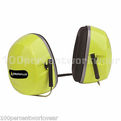 Delta Plus Venitex SILVERSTONE Ear Defenders Muffs Neck Band + Bag Hi Vis Yellow