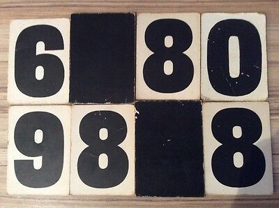 Vintage Hymn Board Mixed Numbers On Thick Card  - Eight numbers Art Display