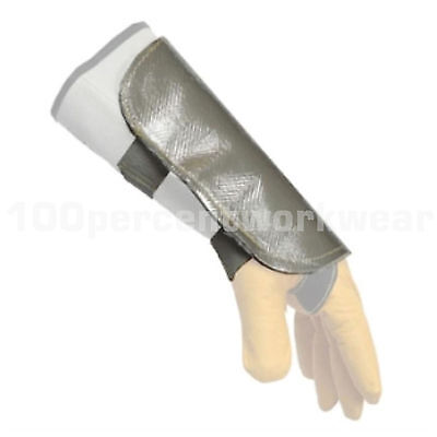 RHINOweld Aluminised Back Leather Arm Hand Shield Protection Welding Welders New