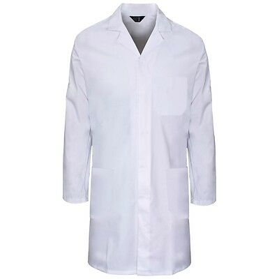 Supertouch Mens Polycotton Lab Coat Warehouse Laboratory Smock S to 4XL New