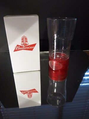 Budweiser Goal Activated Red Light Glass