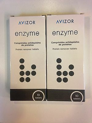 20 Avizor Enzyme Contact Lens Protein Removal Remover tablets (2 x 10)
