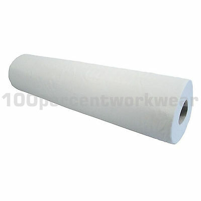 "9 x Rolls 20"" White Paper Hygiene Cover Multi Wipe 2 Ply 47.5m Beauty Salon Vets"