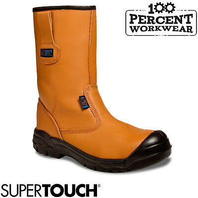 Pro Heavy Duty Builders Tradesman Construction Work Safety Leather Rigger Boots