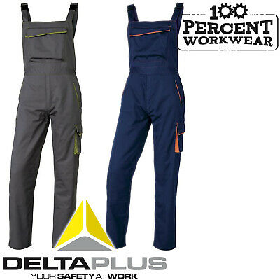 Heavy Duty High Quality Work Bib & Brace Overalls Dungarees Trousers Delta Plus