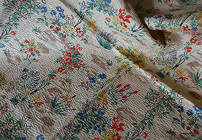 Vintage Original unused 1940s/50s  floral printed design on a woven fabric
