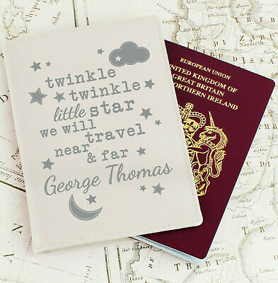 PERSONALISED Baby PASSPORT Holder / Cover. Kids Childs First Holiday Passport
