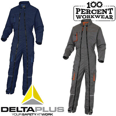 Delta Plus Mechanics Race Engineer Double Zip Work Overall Boiler Suit Coverall