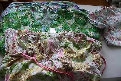 Lot of Scrubs Size Large lot of 5 tops and pants in green (51) floral greenery