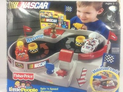 NASCAR Fisher Price Spin 'n Speed Raceway Motorized Track