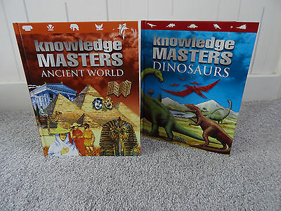 Books X 2 Knowledge Masters  Dinosaurs & The Ancient World New