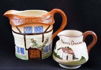 Country Kitchen Cottage Ware Jug & Torquay Motto Jug  Master Two Will Never Do