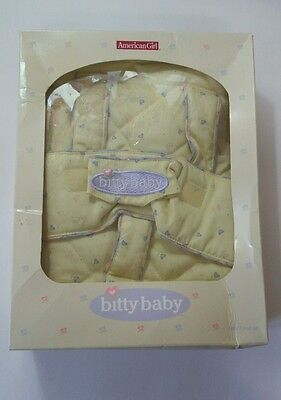 American Girl Bitty Baby Backpack Baby Carrier for Doll Carrier Hearts Yellow