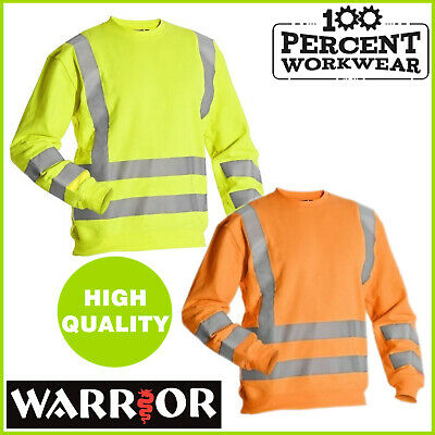 Warrior MIAMI High Visibility 100% Polyester Sweatshirt Work Jumper Hi Vis Viz